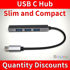 Picture of USB C Hub to 4 Port USB 2.0 for PC MacBook Air Pro Laptop Android iPhone